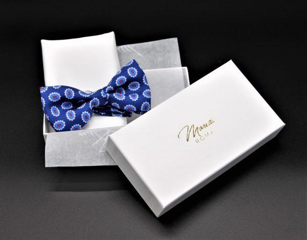 Papillon fantasia disegno cravatta pochette